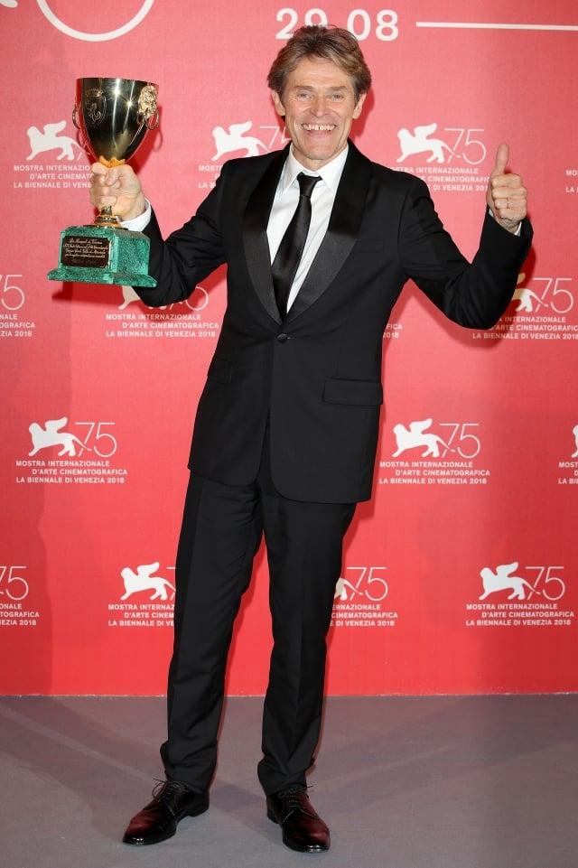 63歲的美國演員達福奪得第75屆威尼斯電影節影帝。(Andreas Rentz/Getty Images)