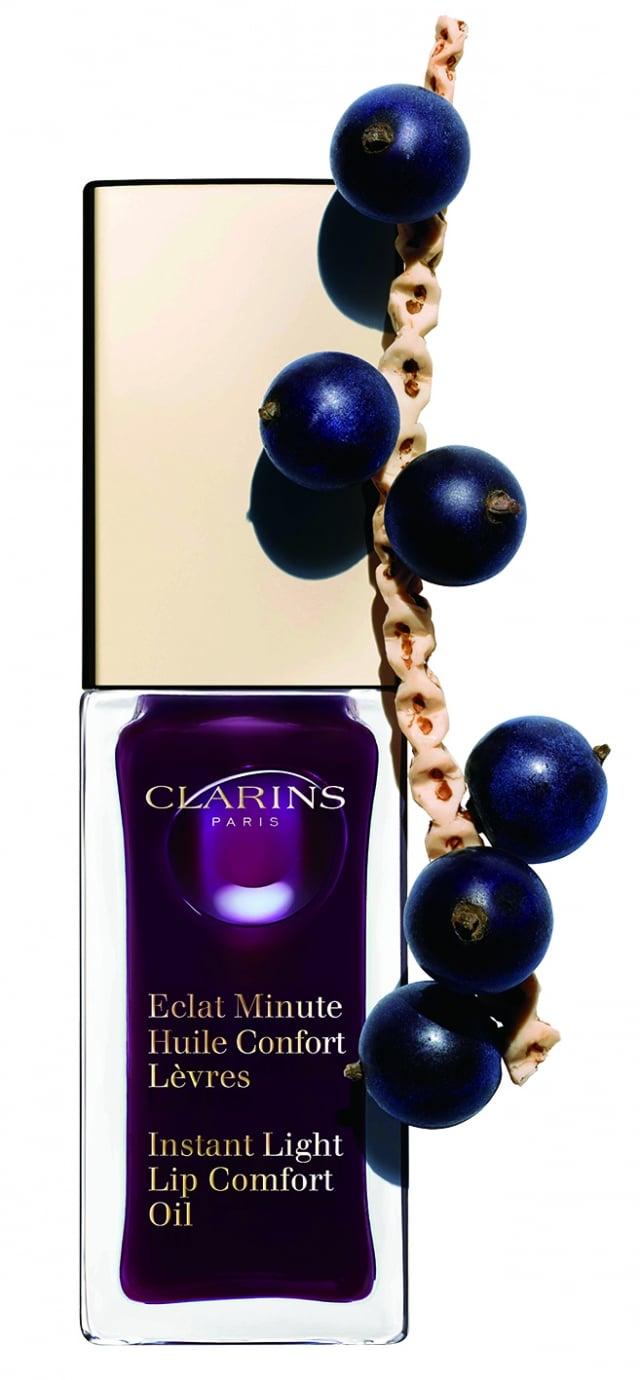 CLARINS彈潤植萃美唇油(08黑醋栗紫15ml)。(新光三越提供)