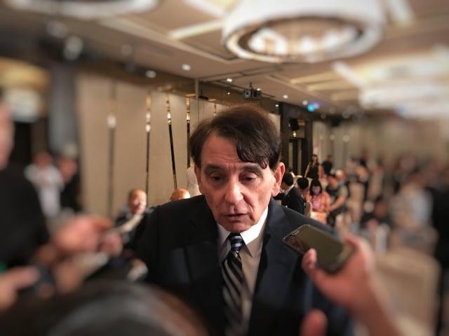 台北處長司徒文,日前針對「中美貿易衝突」 議題提出自己的看法。(記者賴玟茹/攝影)