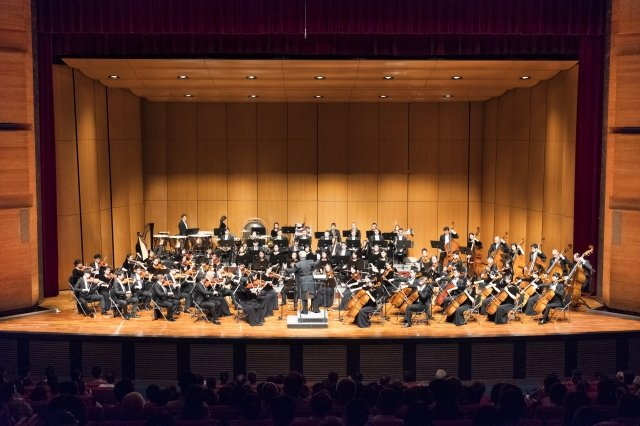 2018年9月23日晚間,神韻交響樂團在台中中山堂的演出。(記者龔安妮/攝影)