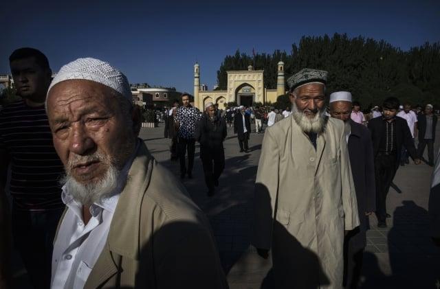 美國副總統彭斯說,在宗教自由方面,新的迫害浪潮正在打擊中國基督徒、佛教徒和穆斯林。圖為中國新疆。 (Kevin Frayer/Getty Images)