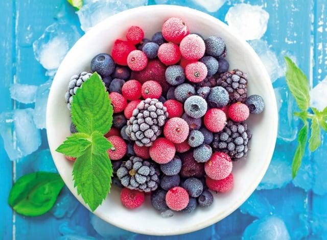 冷凍漿果的營養也很不錯。(Fotolia)