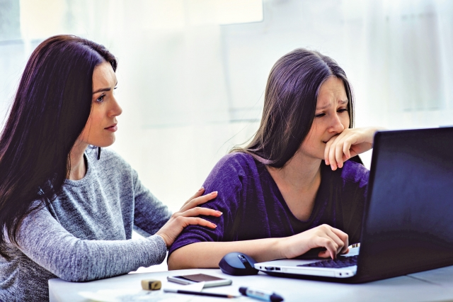 隨著網路的發達與智慧型手機的普及,網路霸凌(cyberbullying)逐漸成為一個影響身心的重要議題。(Fotolia)