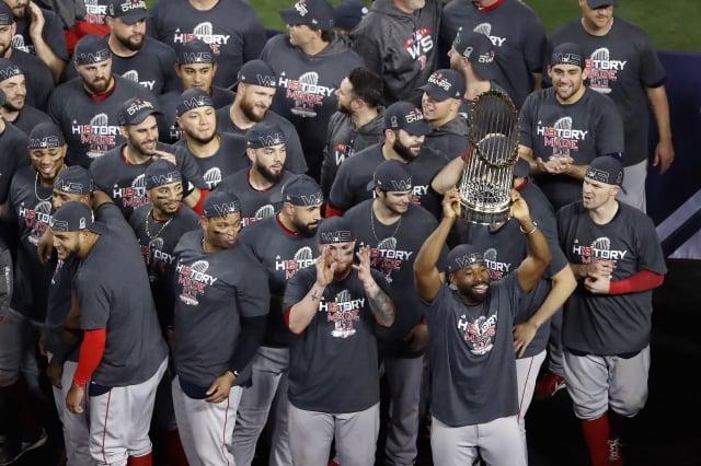 紅襪奪下世界大賽冠軍。(Getty Images)