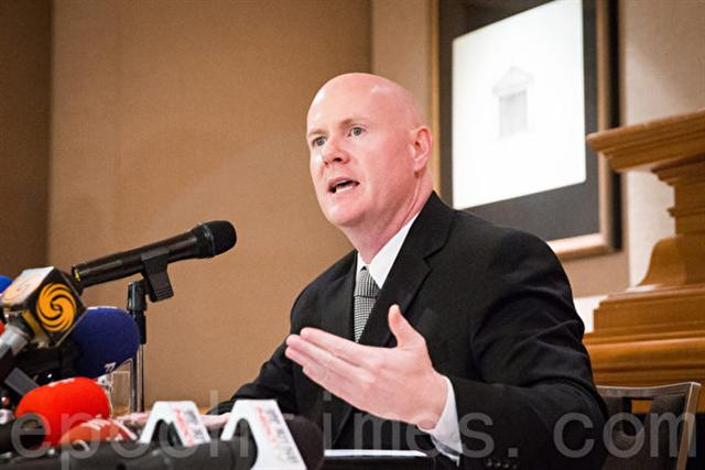 前美國愛達荷州共和黨主席、前美國副總統錢尼(Dick Cheney)副國安顧問葉望輝(Stephen J.Yates)。(陳柏州/大紀元)