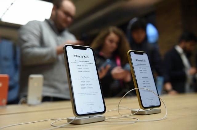 蘋果公布今年第4季財報結果低於華爾街預期,股價在盤後一度大跌7.68%。(Getty Images)