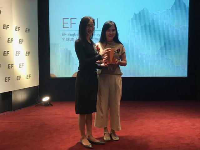 英文能力指標發布 台南獲頒最佳進步獎。(記者賴玟茹/攝影)