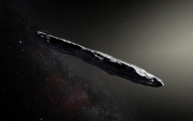 哈佛大學天文學家表示,去年在太陽系中發現的一個神祕雪茄形物體,可能是一個被派來觀測地球的外星人探測器。(M. KORNMESSER / EUROPEAN SOUTHERN OBSERVATORY / AFP)