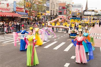 2016紐約紀念4.25法拉盛遊行。(記者戴兵/攝影)