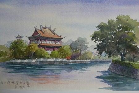 鄉土畫家邱忠林的畫作。(邱忠林提供)