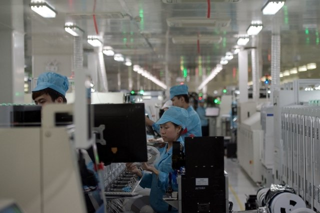 為解決中國勞力及工資問題,組裝大廠和碩將加速把產線從中國移往東南亞。圖為示意圖。(Getty Images)