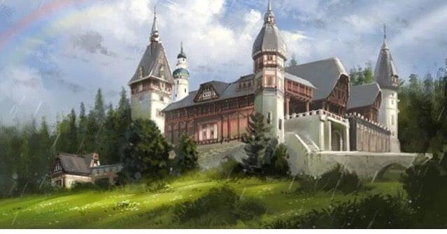 大學作品:《城堡》。(李鑫提供)