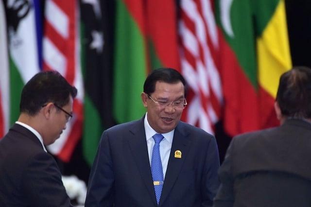 柬埔寨總理洪森11月19日表示,柬埔寨境內永遠不會有外國的軍事基地。(ADEK BERRY/Getty Images)