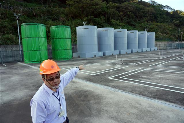 立委蕭美琴重申,強烈反對將花蓮縣納入核廢料最終處置場候選場址。圖為核一廠露天核廢料乾貯場。(中央社)