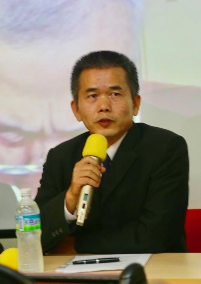 前南部軍事地檢署檢察長李正雄說,普羅大眾不要保持沉默,貢獻一己之力早日將殺人兇手繩之以法。(記者蘇蓉蓉/攝影)