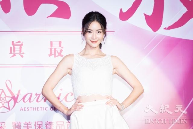 女星鍾瑤14日出席保養品活動。(記者陳柏州/攝影)