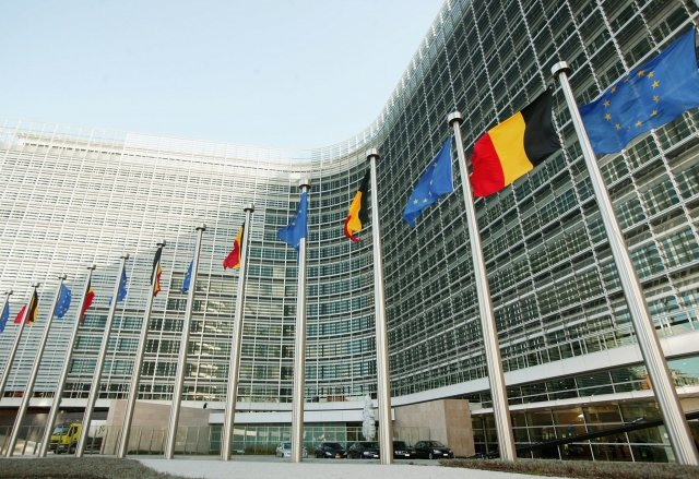 歐盟在比利時布魯塞爾的總部。資料照。(Mark Renders/Getty Images)