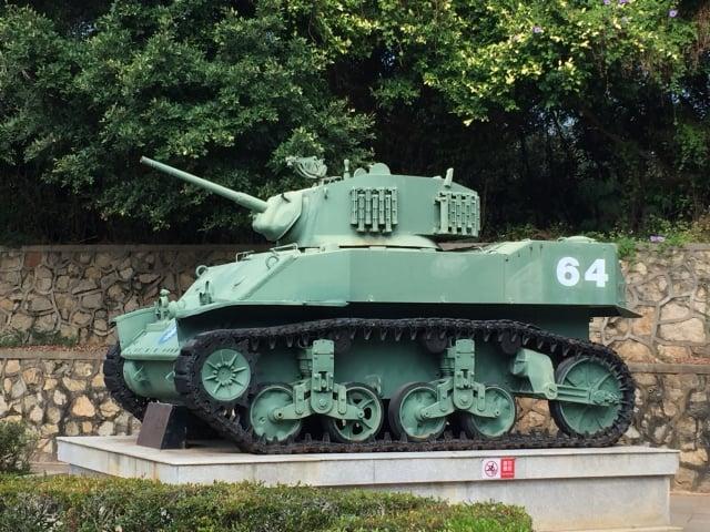 金門之熊是當年古寧頭戰役役使國軍使用的輕戰車。