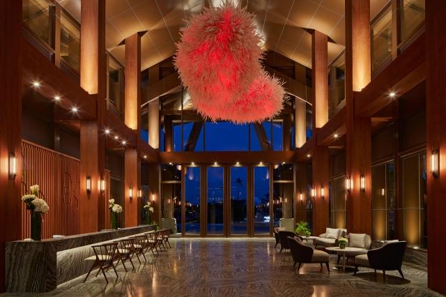 威斯汀溫泉度假酒店大廳。(力麗觀光提供)