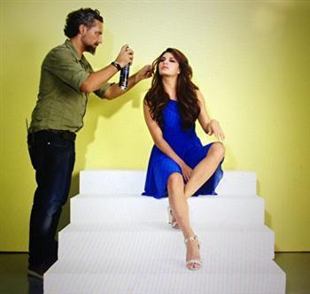 喬爾吉歐為寶萊塢巨星賈桂琳·斐迪南造型。(加布利埃爾·喬爾吉歐提供)