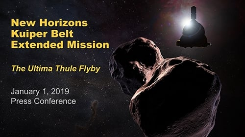 「新視野號」太空船在新年首日飛越太陽系的「天涯海角」。(NASA)