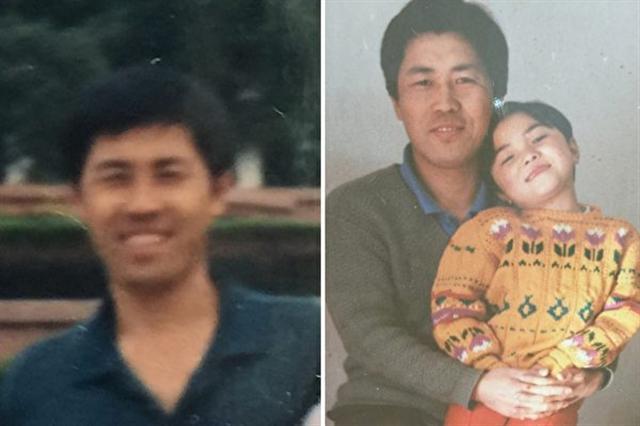 北京法輪功學員李蘭強,右為李蘭強和女兒資料照。(大紀元)