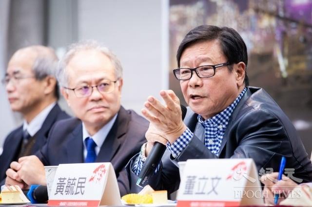前香港立法會議員黃毓民(右1)16日表示,從香港經驗可以知道,「一國兩制」是不可能兌現的,台灣朝野應一致對外,勿敵我不分。(記者陳柏州/攝影)