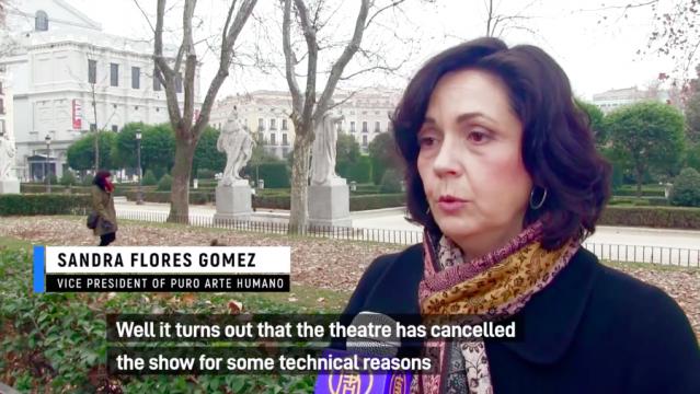 西班牙神韻主辦機構的副主席Sandra Flores Gomez表示,劇院取消神韻演出的行為是無法令人接受的。(新唐人電視台)