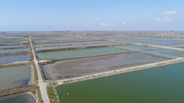 Google在23日宣布在台灣購買10MW(千瓩)的再生能源電力,開發夥伴永鑫能源將協助Google架設4萬個太陽能面板至台南的養殖場魚池,將土地有效利用率最大化。(Google提供)