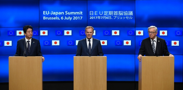 日本與歐盟經濟夥伴協定(EPA)1日正式生效,日本、歐盟將分別取消94%、99%的關稅。圖為示意圖。(Getty Images)