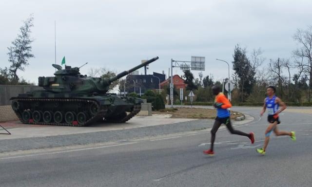 古寧頭和平廣場設置一輛M60A3戰車。