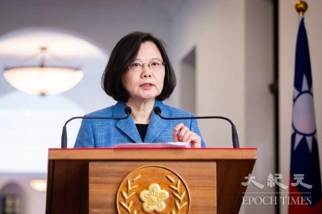 中華民國總統蔡英文20日表示,台灣社會不會接受任何會消滅或傷害國家主權,或是消滅台灣民主的任何政治協議。(記者陳柏州/攝影)