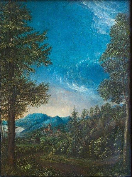 《瑞根斯堡附近的多瑙河風景》,阿爾多弗(Albrecht Altdorfer,1480-1538年),1520年作。(維基百科)