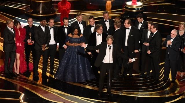 《幸福綠皮書》(Green Book)獲得奧斯卡最佳影片獎。(VALERIE MACON / AFP / Getty Images)