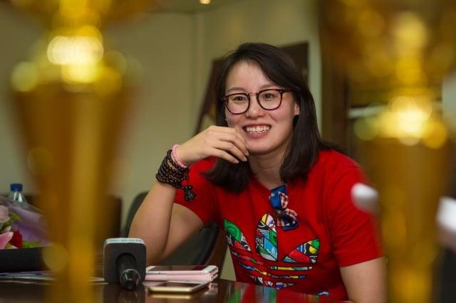 游泳選手傅園慧近期參加湖南衛視的幾檔綜藝節目。圖為資料照。(大紀元資料室)