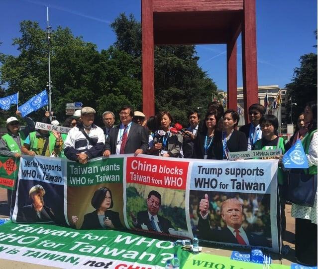 陳志瑜擔任歐醫盟執行長期間,為了爭取台灣參與WHA,他與歐洲台灣醫界人士共同在聯合國萬國宮前抗議。