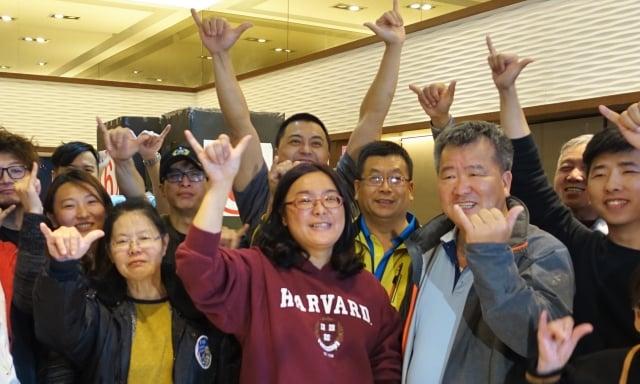 前金門縣議員、無黨籍的陳玉珍以7,117票當選立法委員。(記者簡源良/攝影)