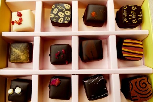 慕尼黑巧克力工坊有非常多口味的巧克力。(攝影/鄧玫玲)