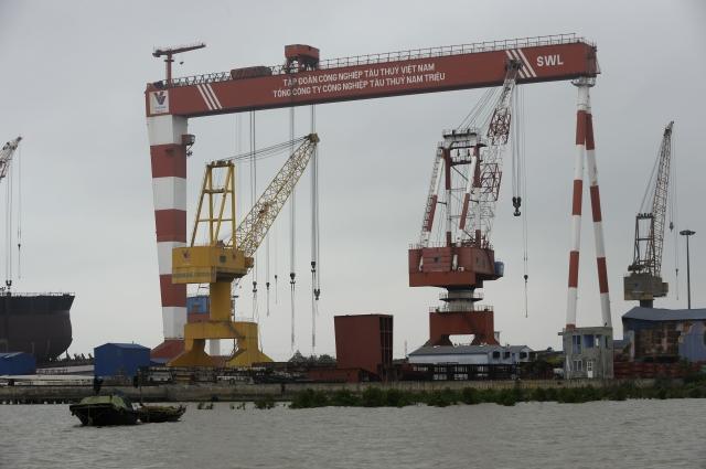 受到美中貿易戰影響,越南對中國大陸的出口大減7%,對美國的出口年增率則達到26%。圖為示意照。(AFP)