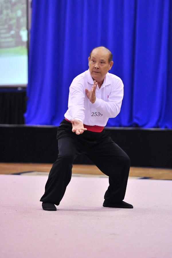 第三屆南方拳術組銀獎得主,來自台灣曾成郎,演練震鶴拳。(攝影/曾介宏、新唐人電視台提供)