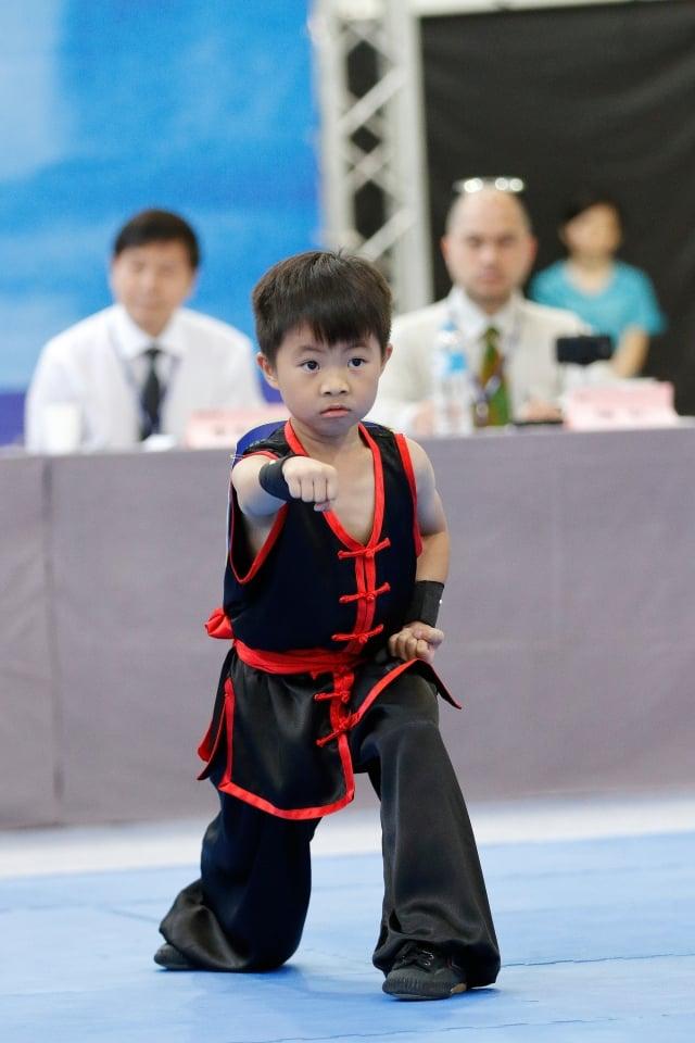 第五屆亞太初賽南方拳術組入圍選手林安易(攝影/曾介宏、新唐人電視台提供)