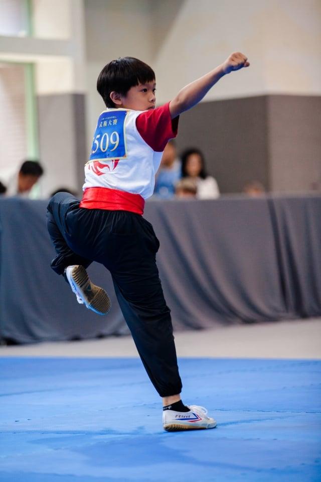 第五屆亞太初賽男子拳術組入圍選手葛宣佑(攝影/曾介宏、新唐人電視台提供)