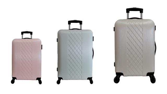 靚彩行李箱3件組。
