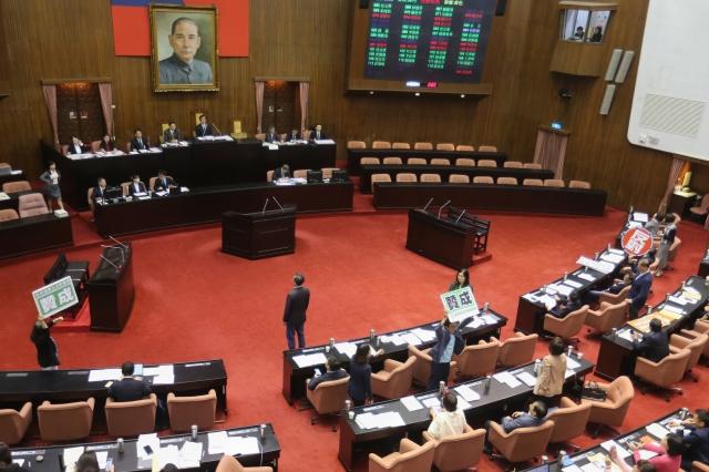 時代力量黨團提出《國安法》部分條文修正草案,該案17日經立法院院會一讀通過,後續將交付委員會審議。圖為示意圖。(中央社)