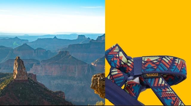 涼鞋織帶採用寶特瓶回收製造而成。