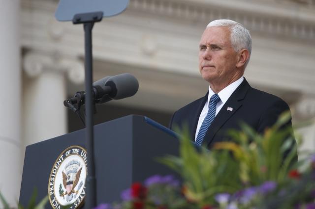 今年是天安門事件30周年,傳聞美國副總統彭斯準備發表演講,讉責中共的宗教自由和人權紀錄。(Tom Brenner/Getty Images)
