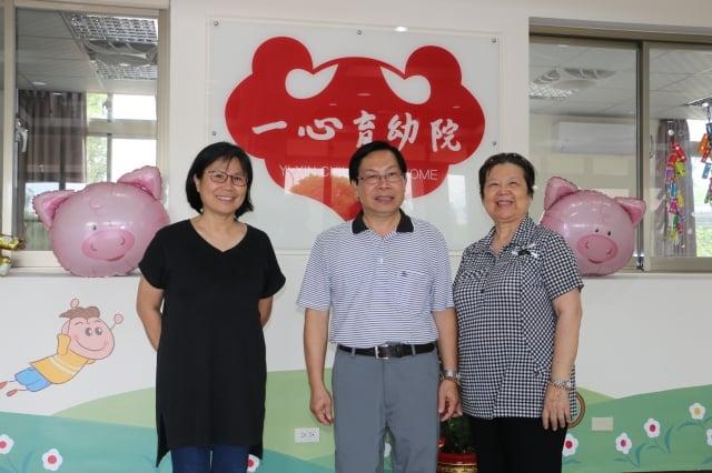 副院長陳淑美(右),教保組長陳秋蓉(左)。(攝影/吳雁門)