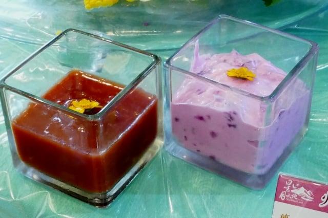 火龍果沙拉醬和莎莎醬。(攝影/鄧玫玲)