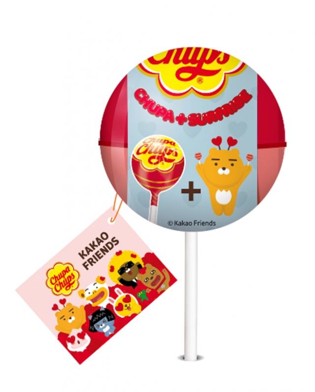 加倍佳棒棒糖與韓國貼圖角色KAKAO FRIENDS合作。(業者提供)