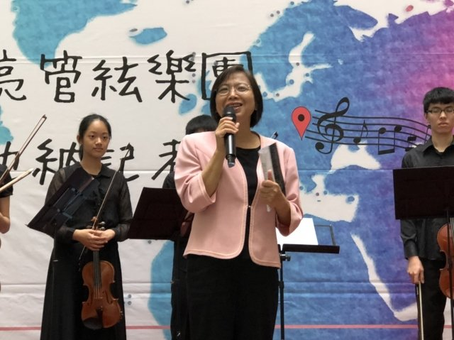 桃園文化局長莊秀美給於「樂亮絃樂團」高度肯定。